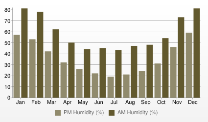 Damascus Humidity (AM and PM %)